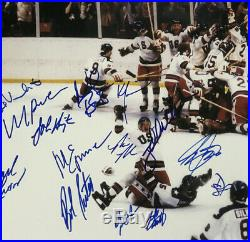 1980 USA Mens hockey team signed INS 16x20 photo framed auto Suter PSA LOA /20