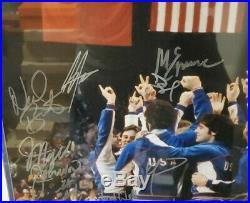 1980 USA Olympic Hockey AT PODIUM All 20 Team Signed 16x20 GRANDSTAND COA FRAMED