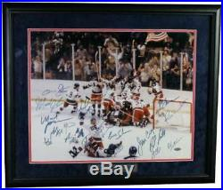 1980 USA Olympic Hockey Team Miracle On Ice Signed Framed 16x20 Photo Coa Pc917