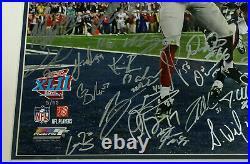 2007 Giants Signed SB 42 Photo Framed 30+ Auto Eli Manning Strahan Steiner /52