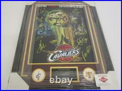 2016 Cavaliers team signed 23X30 Framed Photo LeBron James, Kyrie Irving LOA COA