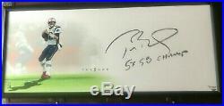 2 DAYS @$1275Tom Brady Signed 5X SB Champ 46x20 Framed LithoTRISTAR/UDA LE 17/51