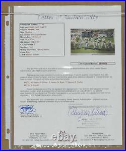 300 Win Club Ryan/Glabine/Carlton Multi Signed Framed 24x36 Poster JSA LOA