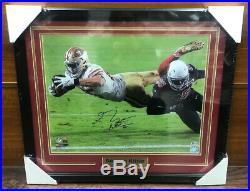 49ers George Kittle Autographed Signed & Framed 16x20 Diving Photo BAS