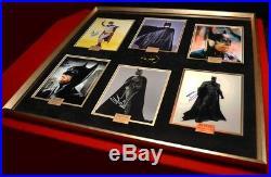 ADAM WEST Signed BATMAN AUTOGRAPHS + all Batman Actors, Frame, COA, UACC, logo