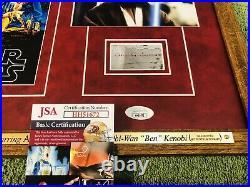 ALEC GUINNESS Signed (JSA) Autograph STAR WARS Framed OBI- WAN KENOBI no psa bas
