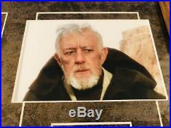 ALEC GUINNESS Signed (JSA) Autograph STAR WARS Framed Photo Display psa bas
