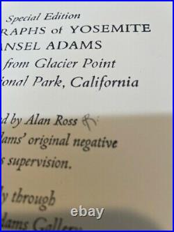 ANSEL ADAMS MOONRISE FROM GLACIER POINT YOSEMITE SPECIAL ED Gelatin Silver