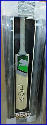 Adam Gilchrist Hand Signed Full Size Puma Cricket Bat Framed + Photo Proof & Coa