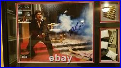 Al Pacino Scarface Auto Signed 11x14 Ultimate Frame PSA/DNA COA with Script