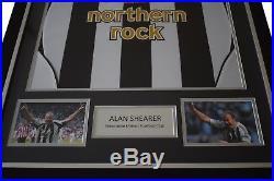 Alan Shearer SIGNED FRAMED Testimonial Shirt Photo Autograph Newcastle Utd COA