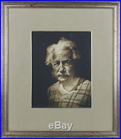 Albert Einstein 1935 Authentic Signed 7.5x9.75 Framed Photo BAS #A89682
