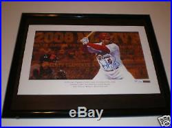 Albert Pujols Signed And Framed Picture Cardinals Uda