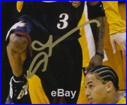 Allen Iverson Signed Framed 8x10 76ers NBA Finals Step Over Lue Photo JSA ITP