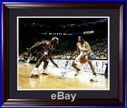 Allen Iverson signed 16x20 Michael Jordan photo framed autograph HOF JSA COA