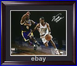 Allen Iverson signed Mamba Forever 16x20 Kobe Bryant photo framed autograph JSA