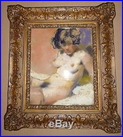 American and Hungarian painter Fried Pal`s picture, Naked Beauty-III, 1940`s