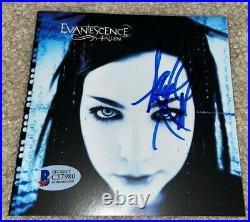 Amy Lee Signed Evanescence Fallen CD Cover Framed Rock Roll Singer Bas