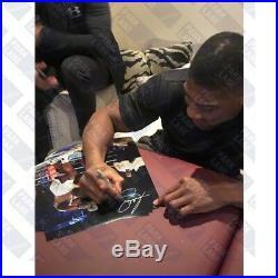 Anthony Joshua Uppercut Vs Klitschko Signed by Joshua Framed Photo