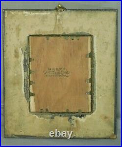 Antique Miniature Portrait Painting Man REGENCY Picture Frame Charles Herve II