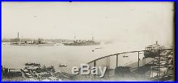 Antique Panorama Silver Photo Chinese China Shanghai Ah Fong Building 1928