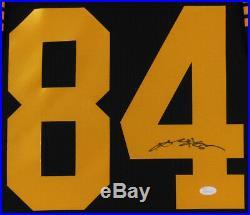 Antonio Brown Signed Framed 35x43 Jersey & Photo Display JSA Steelers Raiders