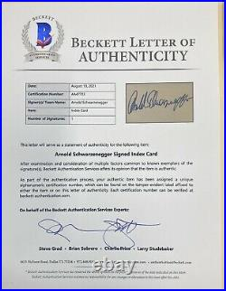 Arnold Schwarzenegger signed autographed Framed Cut Beckett Terminator Sexy