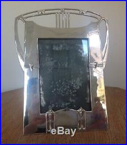 Art Nouveau WMF Secessionist Polished Pewter Photograph Frame 1906 Signed