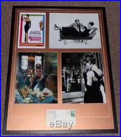 Audrey Hepburn Signed Framed 25x33 Breakfast at Tiffany's Photo Display AW