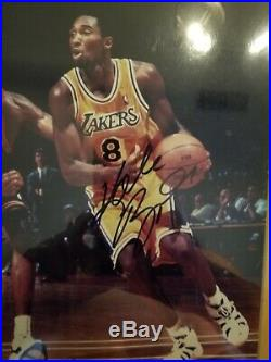 Authentic Kobe Bryant Autographed Hand Signed 8x10 Photo with Hologram COA Framed