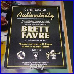 BART STARR & BRETT FAVRE signed autographed FRAMED 16X20 GREEN BAY PACKERS COA