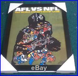 BART STARR Signed + Framed Super Bowl 2 Program Cover 11x14 Photo PROOF
