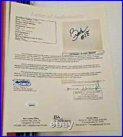 BROOK BERRINGER Autographed Signed Cut Photo NEBRASKA JSA Framed Matted Rare 1/1
