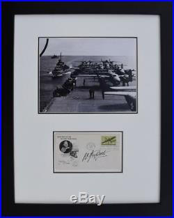 B-25's on the USS Hornet Signed Jimmy Doolittle Framed Historical Photos
