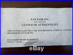 Barry Bonds Signed Autograph Baseball Photo Framed COA