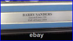 Barry Sanders Autographed Signed Framed 16x20 Photo Detroit Lions Psa/dna 160695
