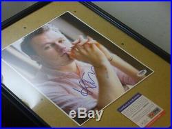 Batman Dark Knight Heath Ledger (The Joker) signed 8x10 Photo PSA DNA (Framed)