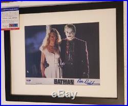 Batman Jack Nicholson The Joker signed 8x10 Photo PSA DNA (Framed)