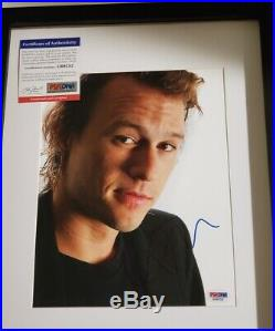 Batman The Dark Knight Heath Ledger (Joker) signed 8x10 Photo PSA DNA (Framed)