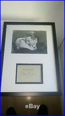 Bela Lugosi Signed Autograph framed vintage photo