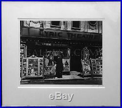 Berenice Abbott Lyric Theatre 1979 Signed Silver Gelatin Framed Coa