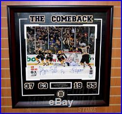 Bergeron Marchand Seguin Boychuk Boston Bruins Signed Comeback 16x20 Framed