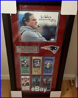 Bill Belichick Autographed Signed New England Patriots Framed 8x10 Photo Brady