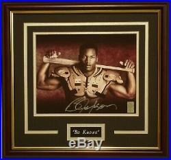 Bo Jackson Knows signed framed Nike photo Bo Holo certified bat & pads RARE