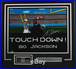Bo Jackson Signed Framed 16x20 Tecmo Bowl Photo with NES Controller BAS
