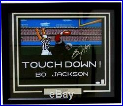 Bo Jackson Signed Raiders Techmo Bowl 22x27 Custom Framed Photo Display