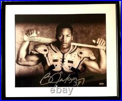 Bo Jackson autographed signed Knows BB/FB Nike 16x20 photo poster framed TriStar