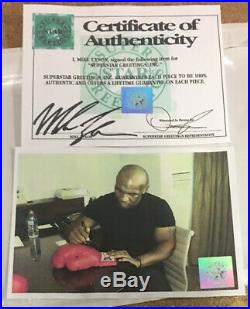 Boxing Legend Mike Tyson Signed And Framed Glove + Photo Proof