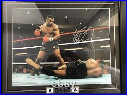 Boxing Mike Tyson Signed Framed 20 X 16 Print