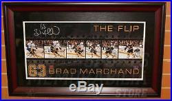 Brad Marchand Boston Bruins Signed Sedin The Flip Filmstrip Panoramic framed